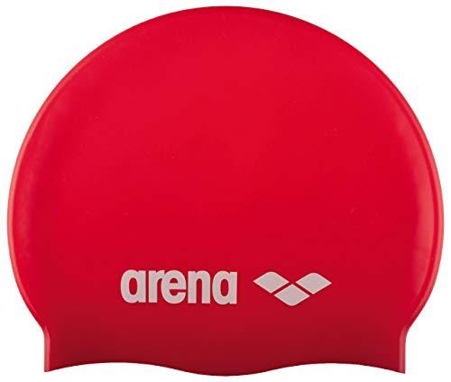 Arena Classic Jr Gorro de Natación, Unisex niños, Rojo (Red/White), Talla Única