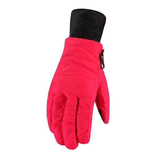 Gants de ski d'hiver pour femme - Rouge - Taille unique