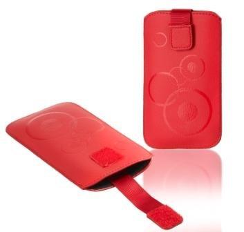 Handytasche Circle für Nokia Asha 210 Handy Tasche Schutz Hülle Slim Hülle Cover Etui rot (ku-sl-rt-ci)