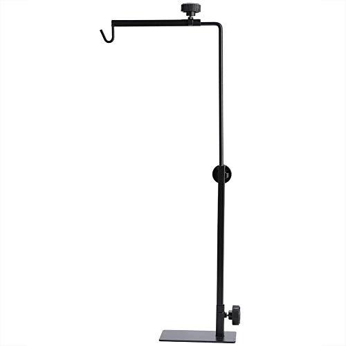 Soporte para lámpara de reptiles, altura ajustable soporte para lámpara de aterrizaje soporte de metal para lámpara de araña de ciempiés de araña (#1)