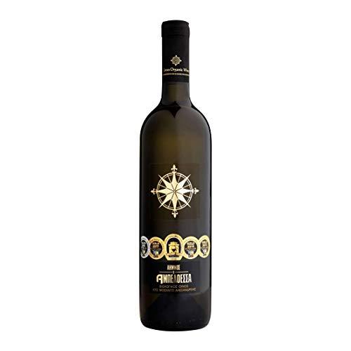 Limnos Organic Weine - Ampeloessa - Muscat Alexandrias - Bio Weiß Trocken Wein P.D.O. - Glas Flasche, 750ml