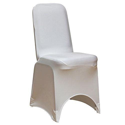 Lot de 50 housses de chaise en Spandex Blanc