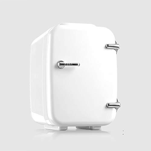 4L tragbarer Kühlschrank, Kfz-Kühlschrank mit doppeltem Verwendungszweck Mini-Kfz-Heiz- und Kühlbox Home Student Dormitory Cosmetics Small Refrigerator,whiteforcarsandhomes