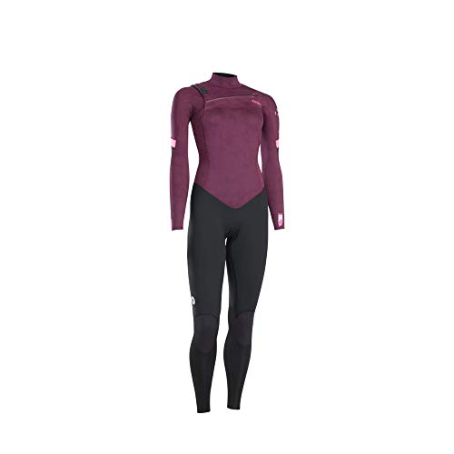 ION Dames wetsuit Trinity Core 5/4mm Front Zip Dark Cherry/Black XS