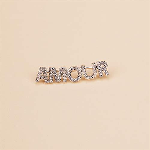 MAYL Pendientes de Letras Mujeres (solteras) Joyas de oído del Viento frío High Sense of French Style Simple y Compact Pendientes Mujeres (2021 New) (Size : Amour)