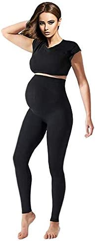 Terramed Maternity Leggings Active Wear Over The Bump Pants Pregnancy Shaping Over The Belly product image