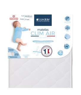 Candide 451622 Matratze Clim'Air, 60 x 120 x 11 cm