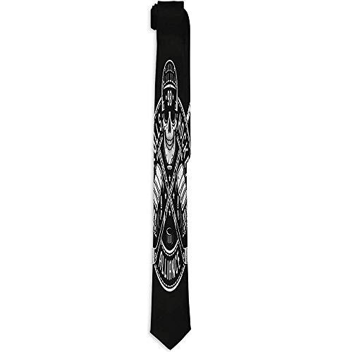 Hockey Logo Mascot Skull Helmet Circular Banner Ed Sticks Bl Tie Cravatta da uomo Cravatta