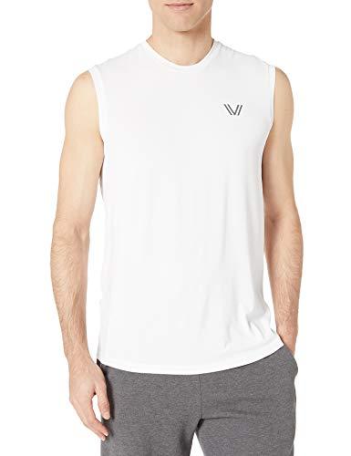 Peak Velocity Vxe T-shirt sans manches à séchage rapide pour homme, coupe multiple, blanc, US M (EU M)