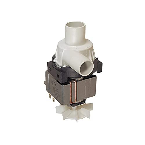 Europart 10001616 Ablaufpumpe Wasserpumpe Waschmaschinenpumpe Laugenpumpe Pumpe mit Pumpstutzen...