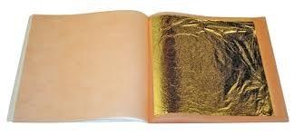 Blattgold, 20 Blatt aus reinem Gold, 24 Karat, essbar, zum Backen, als Luxusdekoration, auch für Gesichtsmaske (44 x 44 mm)