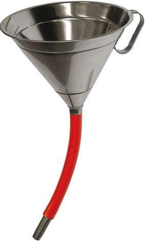 ENTONNOIR INOX 18/10 AISI 304 AVEC RALLONGE FLEXIBLE