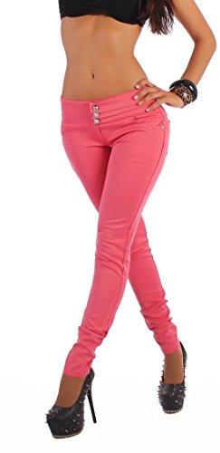 Sexy Damen Hose Stoff Glanz Leggings Treggings Röhre Skinny schwarz apricot M / 38 Größe Gr Size Jeggings Leggins Stoffhose Stoffhosen...