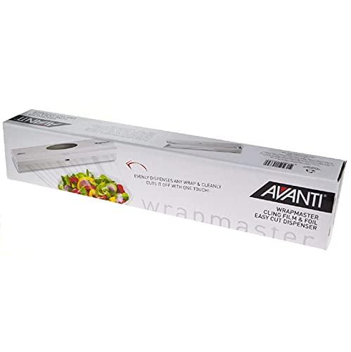 Avanti 15339 Wrapmaster Cling Film and Foil Easycut Dispenser, White