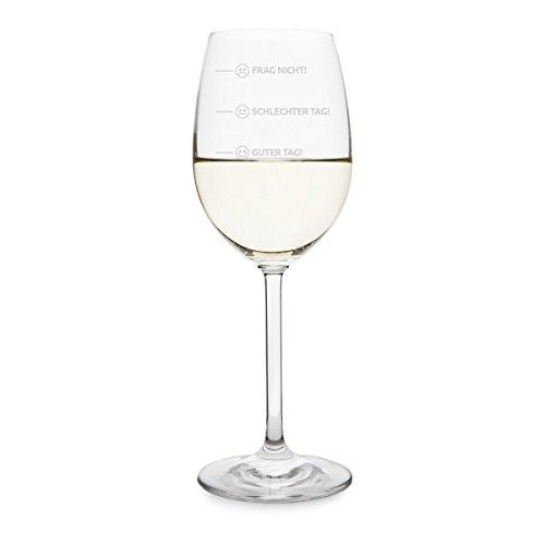 KIXY Weißweinglas von Leonardo - Smiley Stimmung - Weinglas