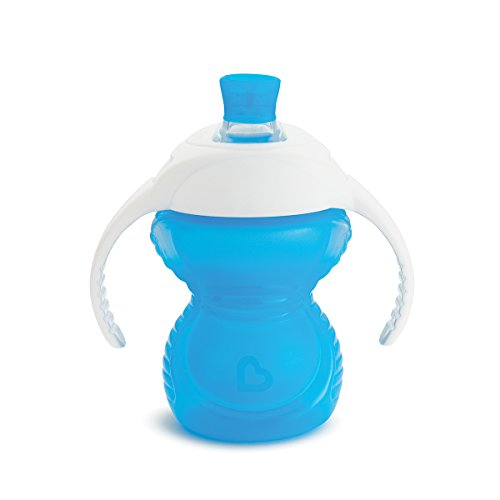 Munchkin Click Lock Trinklernbecher, mit kausicherem Trinkschnabel und Griffen, blau, 237 ml