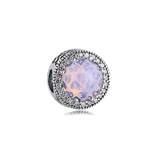 925 Sterling Silver Pandora Bracciale Da Donna Gioielli Perline Misura S Ciondoli Rosa Opalescente Originale Per Fare Fai Da Te Donne Glamour Ragazza Regalo