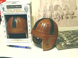 Mini Black Cross Leather Football Helmet (Old 4 Horseman )