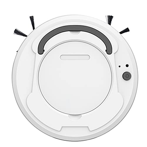 LIPETLI Robot automático 3 en 1, Aspirador inalámbrico Inteligente, máquina de Limpieza en seco y húmedo, con Carga, para el hogar,Blanco