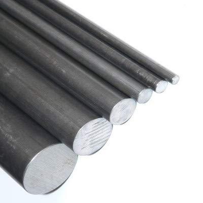 Innovo Barra redonda de acero suave macizo. Varilla negra. Diámetro: 10 mm. 1 x 375 mm de longitud.