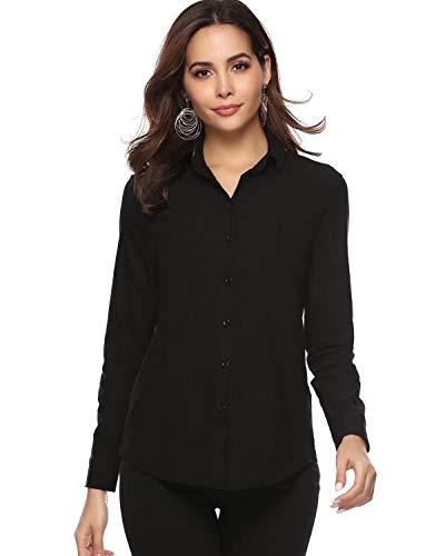 Hawiton Blusas para Mujer Elegantes Camiseta de Manga Larga Blusa de Trabajo Camisa de Entrevista para Oficina,Primavera,Verano,Otoño