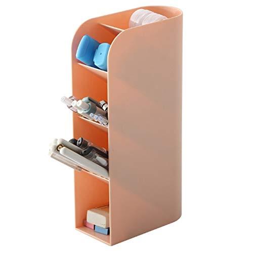 Caja de almacenamiento vertical Lápiz Pluma Cepillos Cosméticos Portaherramientas Organizador Estuche Almacenamiento y transporte convenientes de herramientas cosméticas