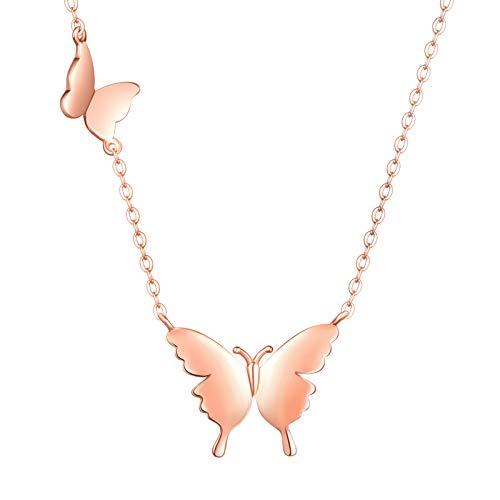 MicVivien Mariposa Collar para Mujer Plata de Ley 925 Colgante de Mariposas Joyería para Mujeres y...