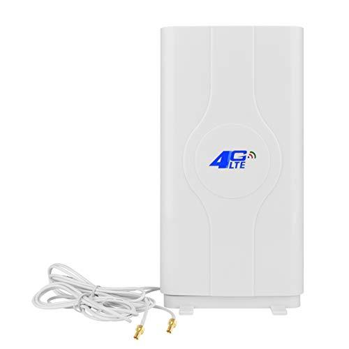 NETVIP 2 x TS9 Stecker Hochleistungs 3G 4G LTE Antenne 700-2700MHz 35dBi Mobile Antenne Booster MIMO Panel Antenne Verstärker Antenne Richtantenne Signalverstärker für E5372 E398 E3276 E392 E3272 usw