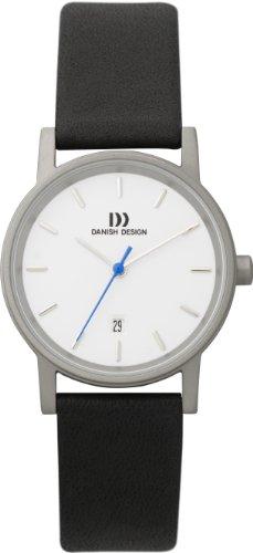 Danish Design Damen-Armbanduhr Analog Leder schwarz DZ120002