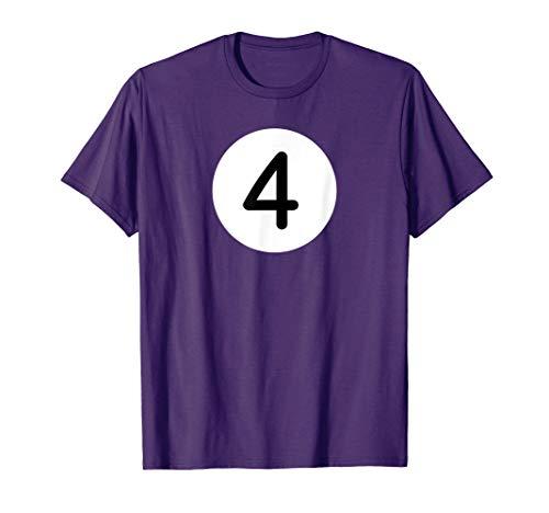 Lila Billard-Kugel Vier Vierer Billardkugel Poolbillard T-Shirt