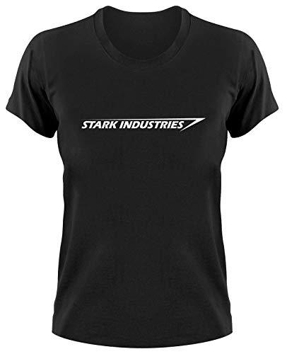 Stark Industries Logo T-Shirt, Iron Man, M, Dames schwarz