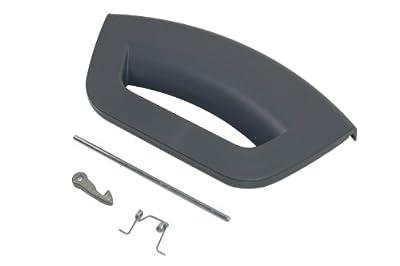 Indesit Washing Machine Door Handle Kit - Graphite. Genuine Part Number C00286363