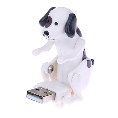 Humping Spot Dog - Mini Funny Cute Dog USB Flash Drives for PC Laptop Adults Stress Relief Toy Gadgets (White)