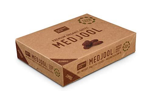 Israel Spezialitäten | 5kg 100% BIO-Medjoul-Datteln JUMBO | Medjool Plus