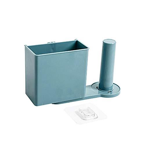 Funie Toilettenpapier-Aufbewahrung, Wandmontage, Zahnbürstenhalter, drehbar, Blau OneSize blau