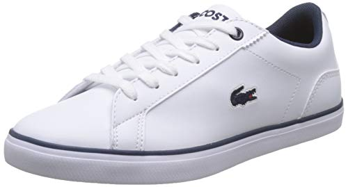 Lacoste Unisex-Kinder Lerond BL 2 CUJ Sneaker, Weiß (White/Navy), 39 EU