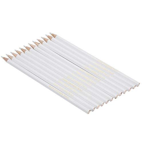Potloodslijper, in water oplosbare potloden, wit, voor het naaien, praktisch gereedschap voor het naaien, wissen en wassen van potloden, 12 stuks