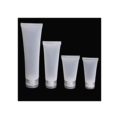 100pcs 20/30/50/100 ml Travel Empty Cosmetic Tube Squeeze Facial Cleansing Container Hand Cream Bottle Lotion Sample Pot Gel Box,Frosted,50ml