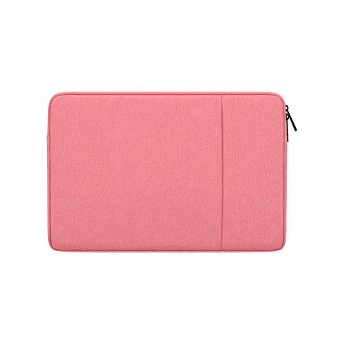 YNLRY Waterproof Laptop Sleeve Bag 13 14 15 15.6 Inch PC Cover for MacBook Air Pro Ratina Xiaomi HP Dell Acer Notebook Computer Case (Color : Pink, Size : 14 inch)