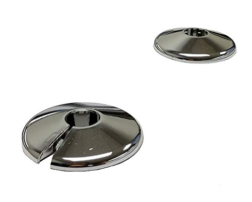 2 Chrome 15mm Radiator Pipe Hole Collars Cover Radsnaps