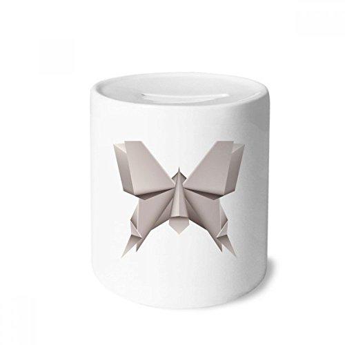 DIYthinker Origami Modelo geométrico Abstracto de la Mariposa Caja de Dinero de Las Cajas de ahorros de cerámica Adultos Moneda de la Caja para niños