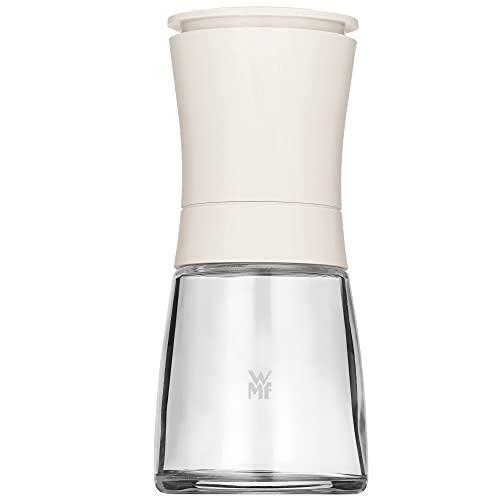 WMF Trend Salzmühle Pfeffermühle unbefüllt 14 cm, Gewürzmühle, Keramikmahlwerk, Kunststoff Glas, weiß