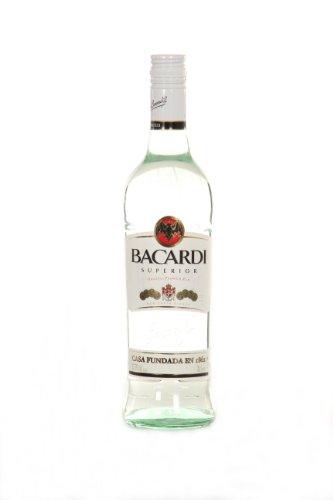 6x botellas de Ron Bacardi carta blanca superior Color Blanco 70cl