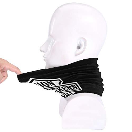 MISSBIE Ironworker Union Proud Neck Gaiter Headwear Sun Mask Headband Balaclava Neck Warmer Scarf Half Face Cover Black
