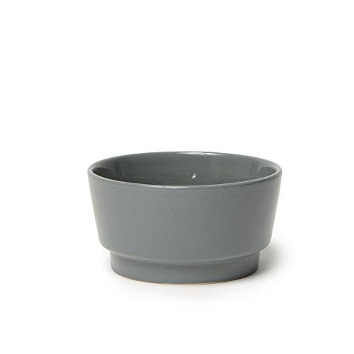 Waggo Hundenapf aus Schwerer Keramik, glänzend, langlebig, für Futter und Wasser, Medium, Delfin