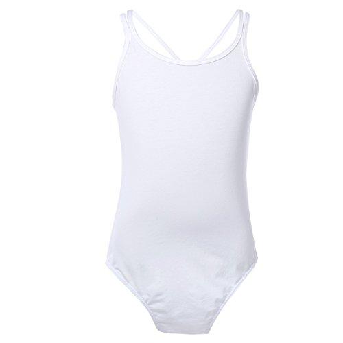 TiaoBug Kids Girls Spaghetti Strap Criss Cross Back Ballet Dancer Dancewear...