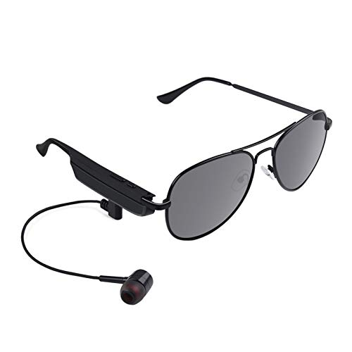 Gafas de sol Bluetooth inalámbricas Diseño ligero Estéreo inalámbrico Bluetooth 5.0 Auriculares Gafas polarizadas para actividades al aire libre (negro)