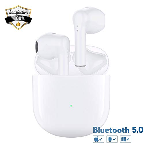 Auricolari Bluetooth Cuffie Bluetooth Wireless con Accoppiamento Rapido Controllo Tattile Cuffia Bluetooth Batteria Potente Custodia di Ricarica Suono Stereo per iPhone/Android Cuffie In-Ear
