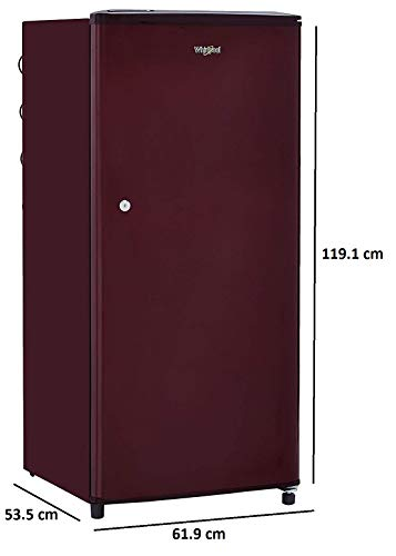 Whirlpool 190 L 3 Star Direct-Cool Single Door Refrigerator (WDE 205 CLS 3S, Wine) 3