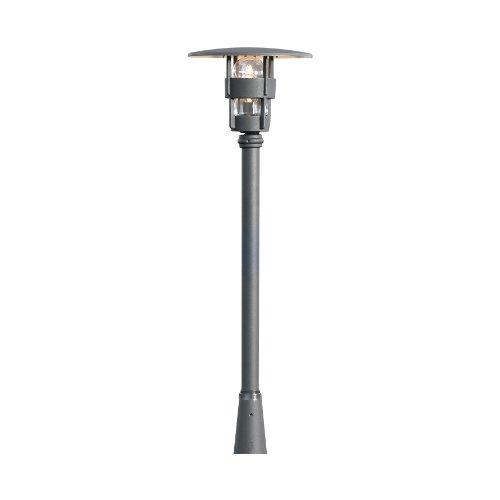Konstsmide Freija 523-750 kop voor sokkel-/paden-/vloerlamp/B: 34 cm D: 34 cm H: 28 cm / 1x60 W / IP23 / lak. aluminium. / mat zwart